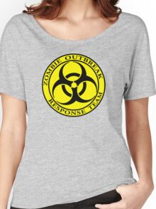 Zombie Outbreak Response Team - yellow Women's Relaxed Fit T-Shirt