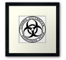 Zombie Outbreak Response Team - light Framed Print
