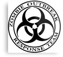 Zombie Outbreak Response Team - light Metal Print