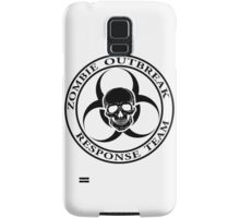 Zombie Outbreak Response Team w/ skull - light Samsung Galaxy Case/Skin