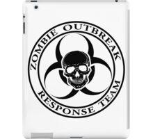 Zombie Outbreak Response Team w/ skull - light iPad Case/Skin