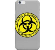Zombie Outbreak Response Team - yellow iPhone Case/Skin