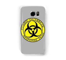 Zombie Outbreak Response Team - yellow Samsung Galaxy Case/Skin