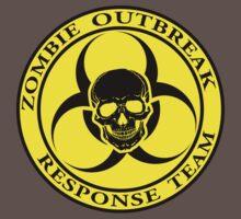 Zombie Outbreak Response Team w/ skull - yellow One Piece - Short Sleeve