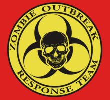 Zombie Outbreak Response Team w/ skull - yellow One Piece - Long Sleeve