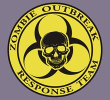 Zombie Outbreak Response Team w/ skull - yellow Kids Clothes