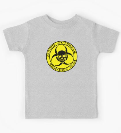 Zombie Outbreak Response Team w/ skull - yellow Kids Tee