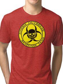 Zombie Outbreak Response Team w/ skull - yellow Tri-blend T-Shirt