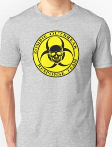 Zombie Outbreak Response Team w/ skull - yellow T-Shirt