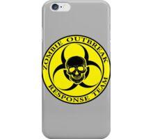 Zombie Outbreak Response Team w/ skull - yellow iPhone Case/Skin