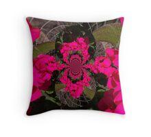 distort flowers Throw Pillow