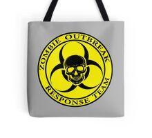 Zombie Outbreak Response Team w/ skull - yellow Tote Bag