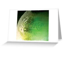 The bottle of beer Greeting Card
