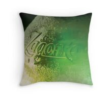 The bottle of beer Throw Pillow