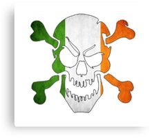 Ireland Flag - Skull Canvas Print