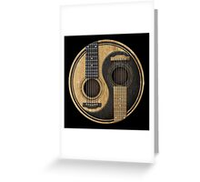 Old and Worn Acoustic Guitars Yin Yang Greeting Card