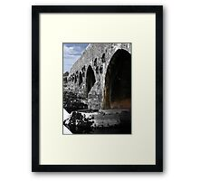 The bridge over the Suck Framed Print