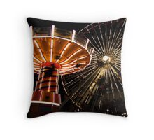 the city is spinning Throw Pillow