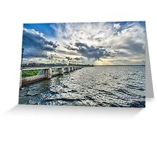 And The Sky Went Boom ! Greeting Card