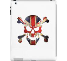 United Kingdom Skull Flag iPad Case/Skin
