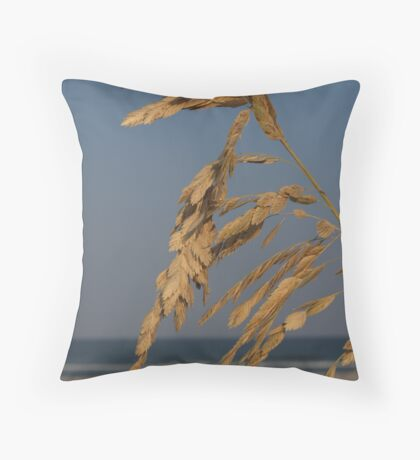 Sea Oats at Sunset, Hunting Island Throw Pillow