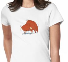 vibrating bull Womens Fitted T-Shirt