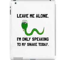 Alone Speaking Snake iPad Case/Skin