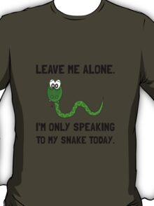 Alone Speaking Snake T-Shirt