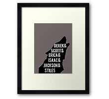 Derek's Pack Framed Print