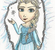 Chibi Elsa by JoannaUchiha