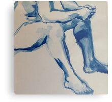 Blue Ink Canvas Print