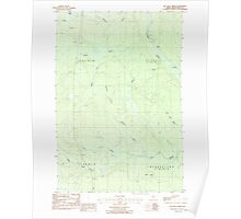 Maine USGS Historical Map Mc Nally Ridge 102735 1986 24000 Poster