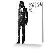 Darth Vader Fashion Sense Greeting Card