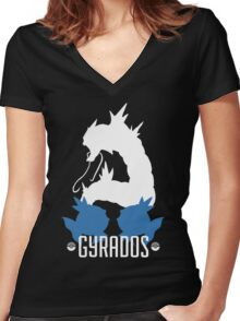 Gyrados Standard Women's Fitted V-Neck T-Shirt