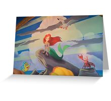 Disney The Little Mermaid Princess Ariel Friends Flounder  Greeting Card