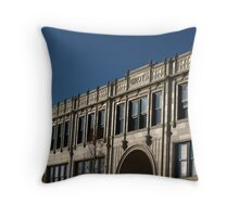 Front of Grove Arcade, Asheville Throw Pillow