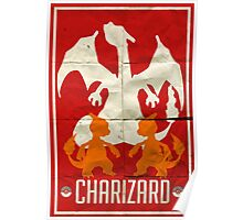 Charizard Old School Poster