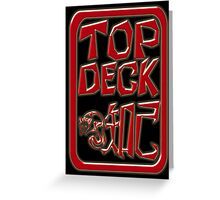TopDeck Personalised Chinese-Style Chops 3D Black Greeting Card