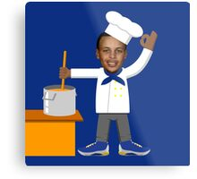Chef Curry with the Pot, Boy! V.2 Metal Print