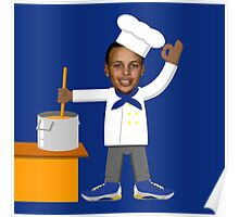 Chef Curry with the Pot, Boy! V.2 Poster
