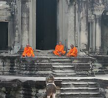 Angkor Wot Monks II by Svenbj