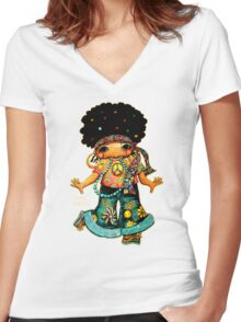 Miss Bling TShirt Women's Fitted V-Neck T-Shirt