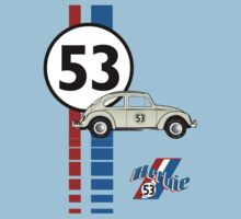 Herbie 53 VW bug beetle Kids Tee