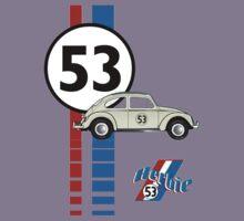 Herbie 53 VW bug beetle Kids Tee