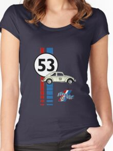 53 VW bug beetle bug Women's Fitted Scoop T-Shirt