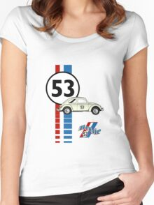 Herbie 53 VW bug beetle Women's Fitted Scoop T-Shirt