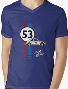 Herbie 53 VW bug beetle Mens V-Neck T-Shirt