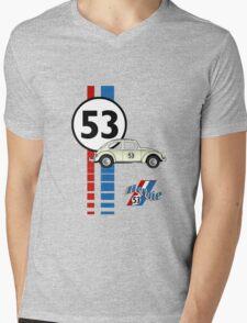 Herbie 53 VW bug beetle Mens V-Neck T-Shirt