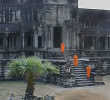 Angkor Wot Monks III by Svenbj