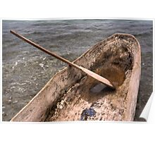 Dugout Wooden Canoe in Haiti Poster
